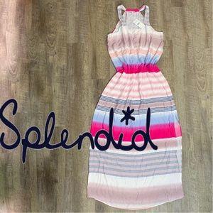 NWT Splendid color block striped maxi dress